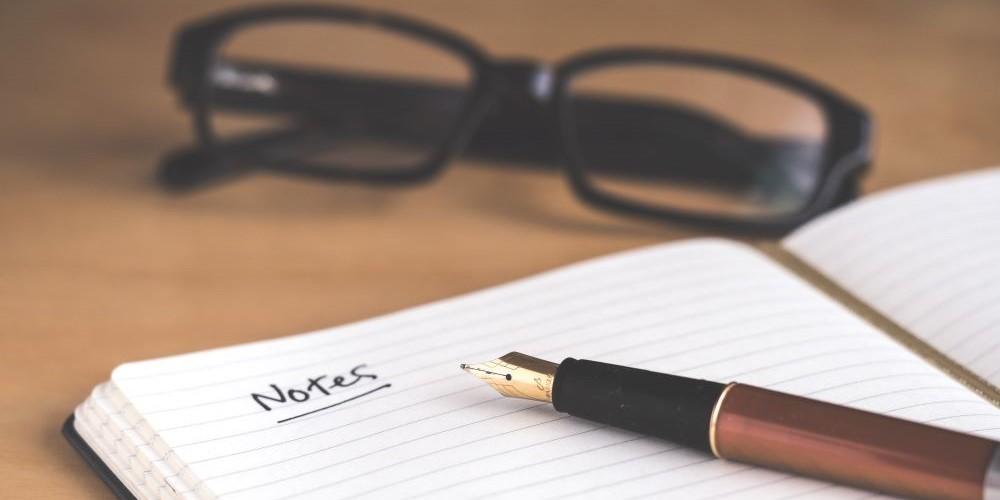 Notizblock für wissenschaftliches Schreiben